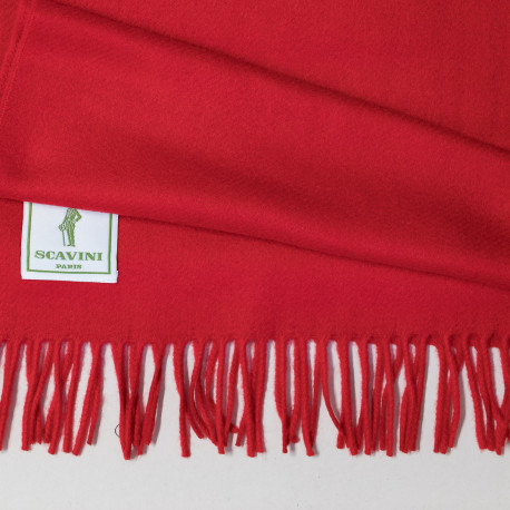 Plain Cashmere Scarf - Red
